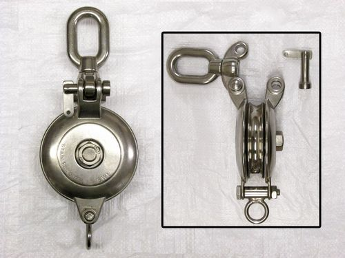Stainless Steel Logging Snatch Block With Swivel Eye